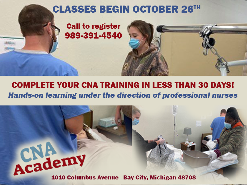 CNA ACADEMY - Hands On Learning Oct 26 classes